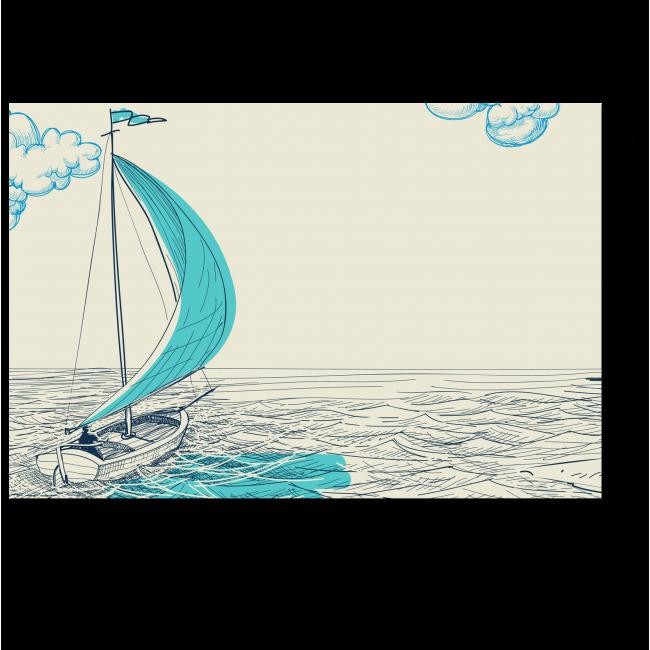 Модульная картина Счастливого плавания