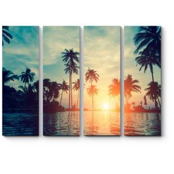 Пальмы в сумерках