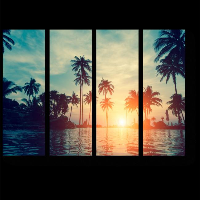 Модульная картина Пальмы в сумерках