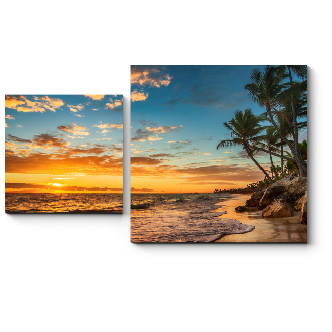 Модульная картина Восход солнца на райском острове