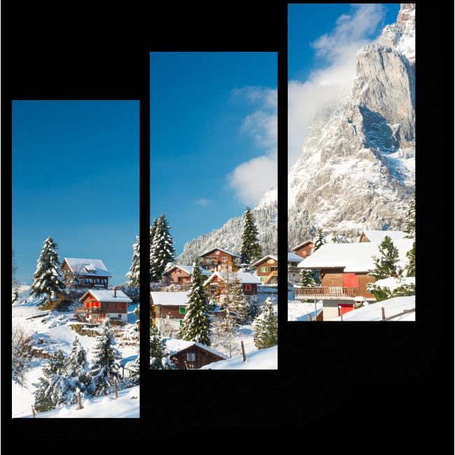 Модульная картина Зимняя Швейцария