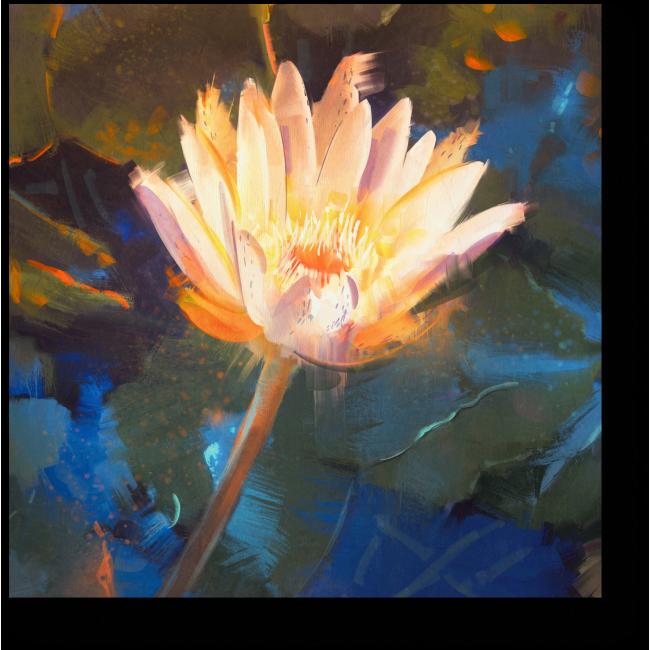 Модульная картина Лотос на пруду