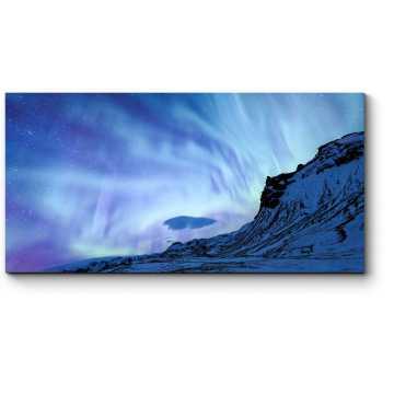 Модульная картина Северное сияние над Исландией