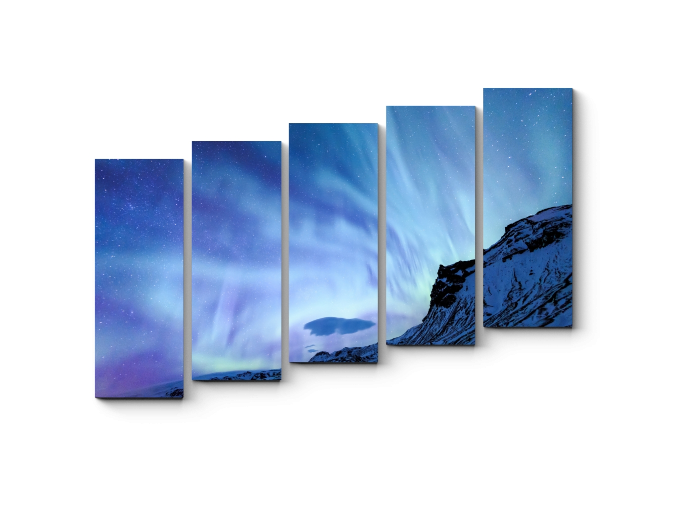 Модульная картина Северное сияние над Исландией (90x63) фото