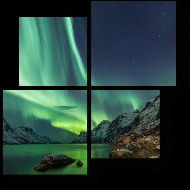 Модульная картина Магическое сияние ночи