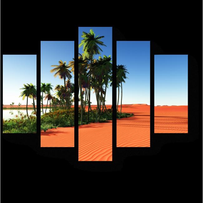 Модульная картина Африканский оазис