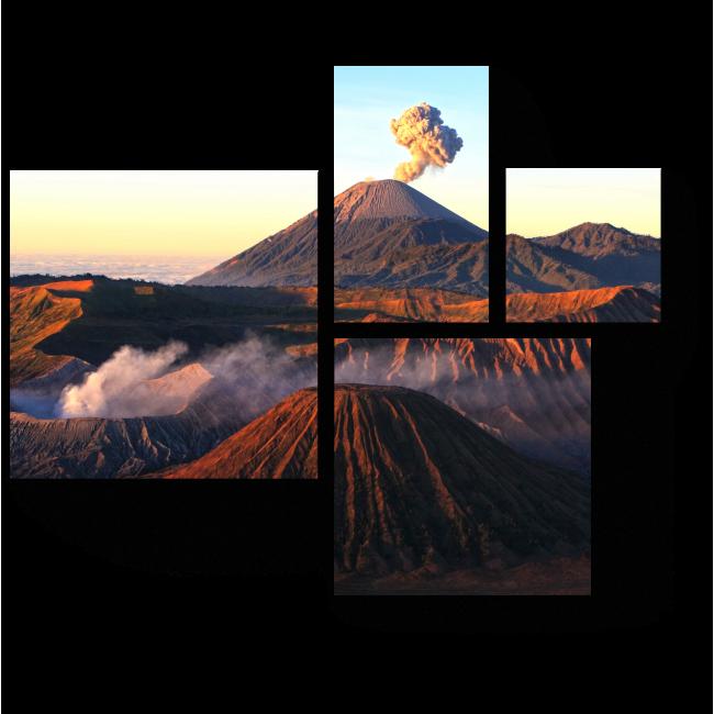 Модульная картина Национальный парк Бромо, Индонезия