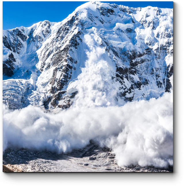 Модульная картина Сход снега в горах Кавказа