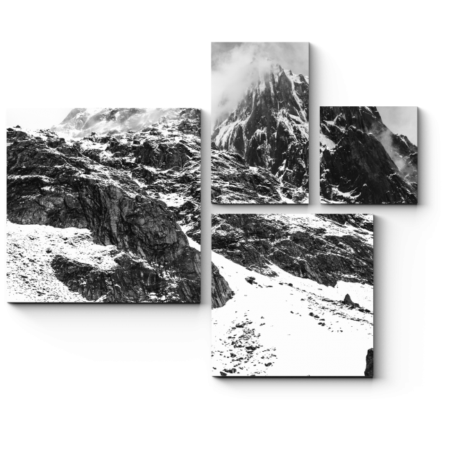 Модульная картина Неприступные горы