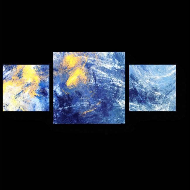 Модульная картина Желтое на синем