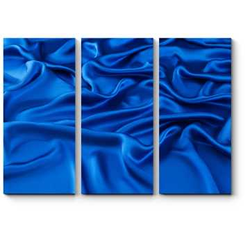 Модульная картина Синий шелк