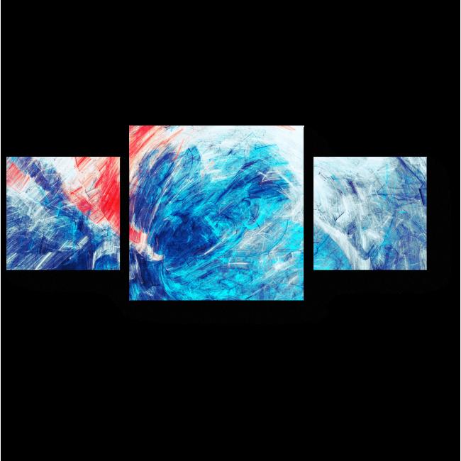 Модульная картина Насыщенный синий