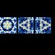 Синий узор калейдоскопа