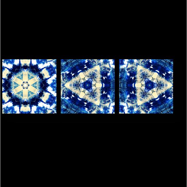 Модульная картина Синий узор калейдоскопа