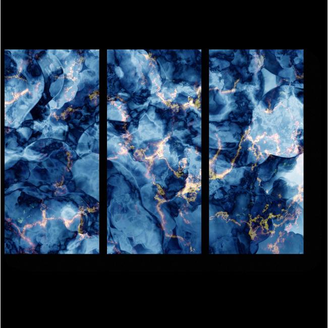 Модульная картина Синяя лава