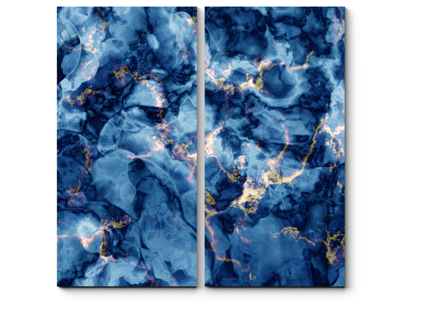 Модульная картина Синяя лава (40x40) фото