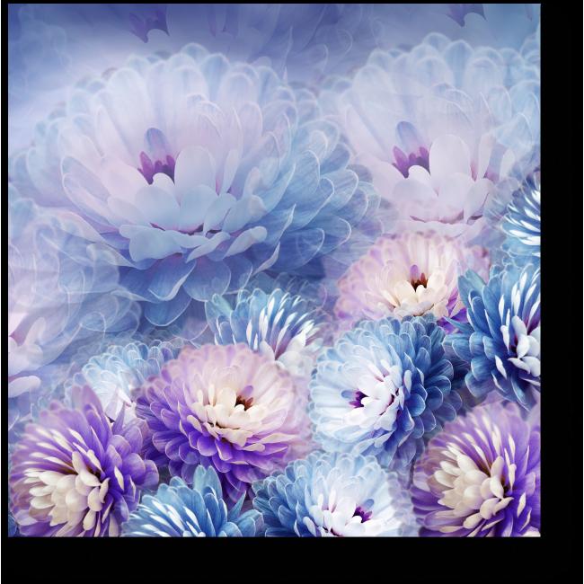 Модульная картина Узор из хризантем