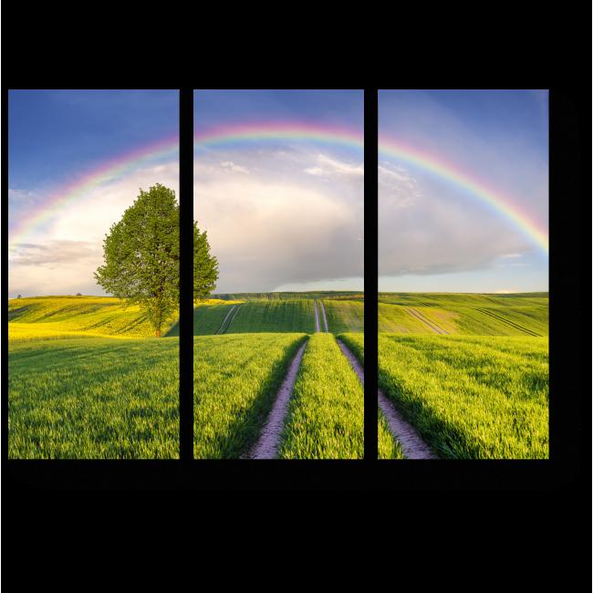 Модульная картина После дождя всегда приходит радуга