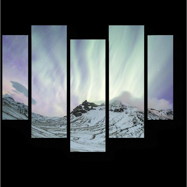 Модульная картина Панорамное сияние