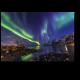 Ночное северное сияние