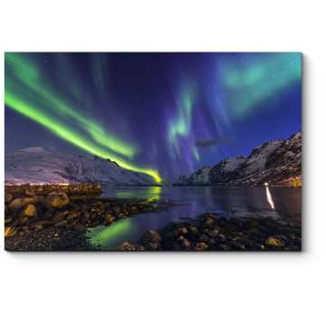 Модульная картина Ночное северное сияние
