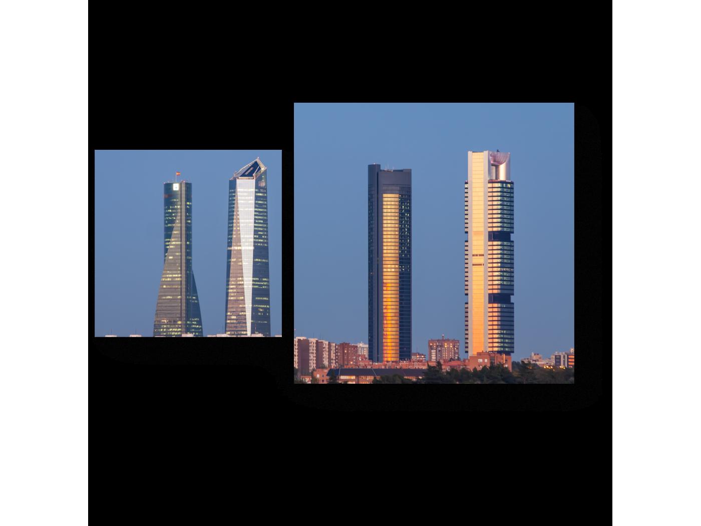 Модульная картина На улицах Мадрида (50x30) фото