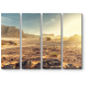 Освещенная солнцем пустыня