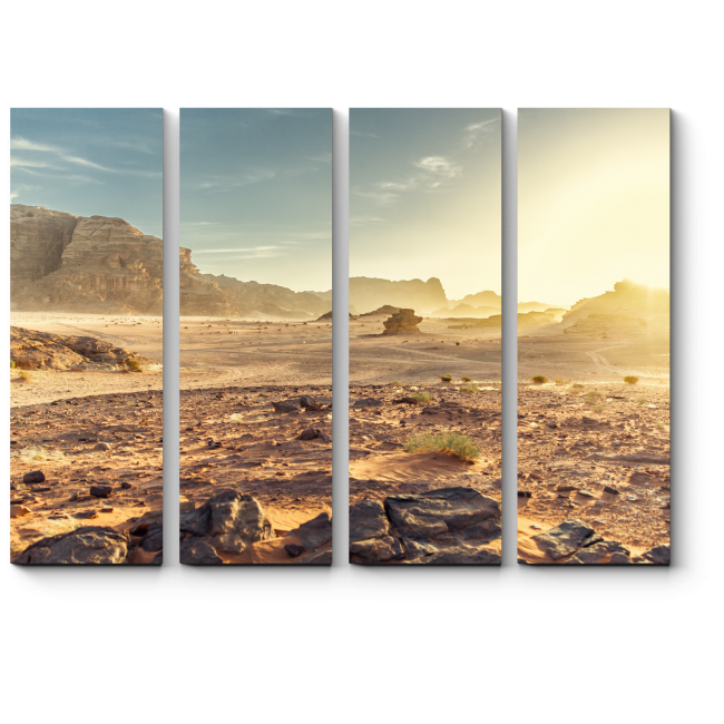 Модульная картина Освещенная солнцем пустыня