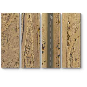 Модульная картина Хайвей в пустыне