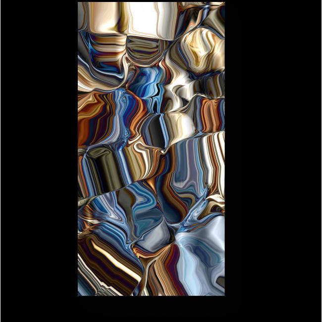 Модульная картина Цвета металла