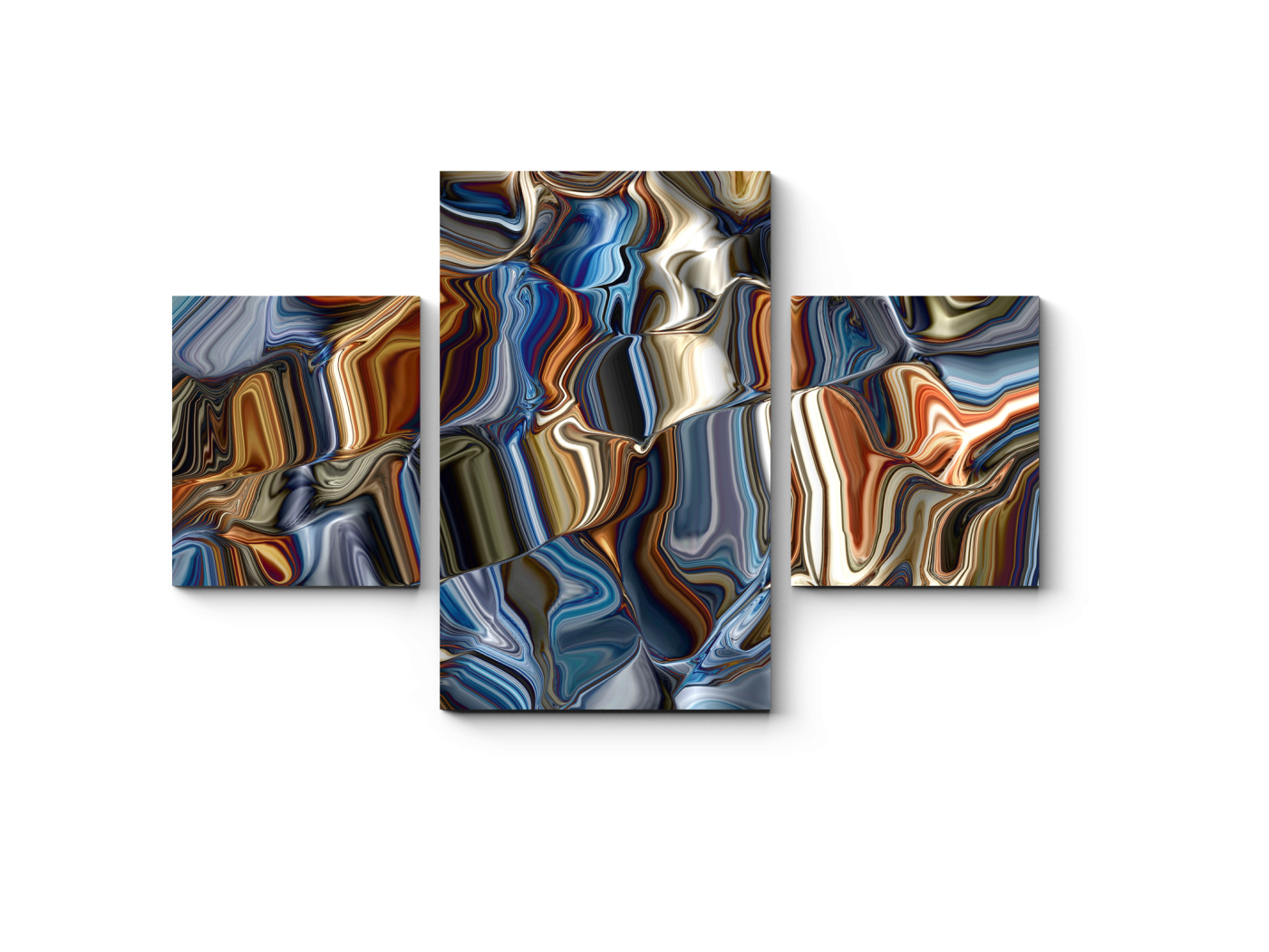 Модульная картина Цвета металла (80x52) фото