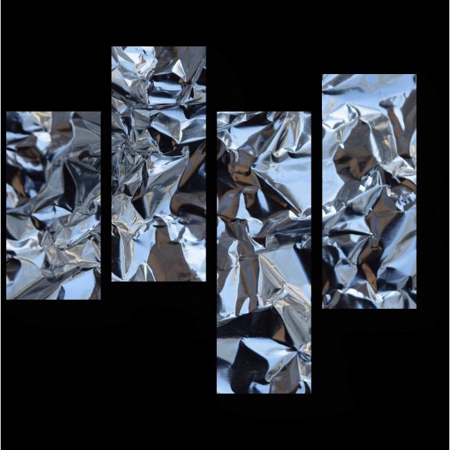 Модульная картина Сжатая фольга