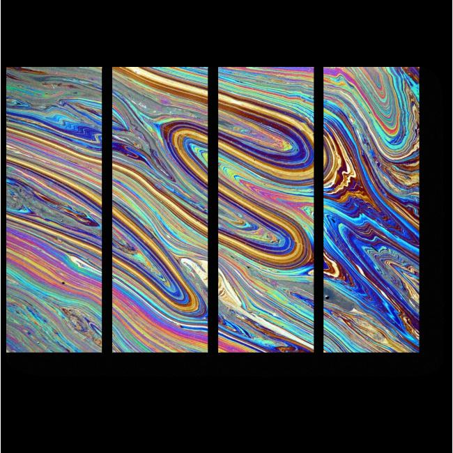 Модульная картина Радужные переливы