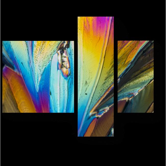Модульная картина Мазки цвета