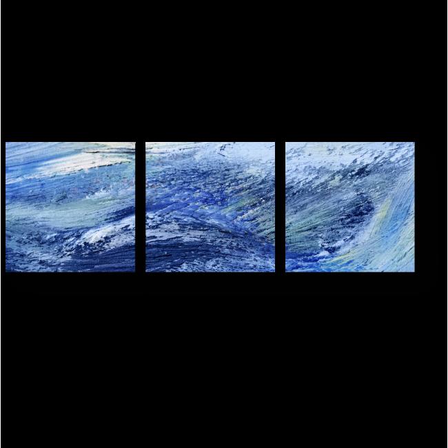 Модульная картина Многообразие синего
