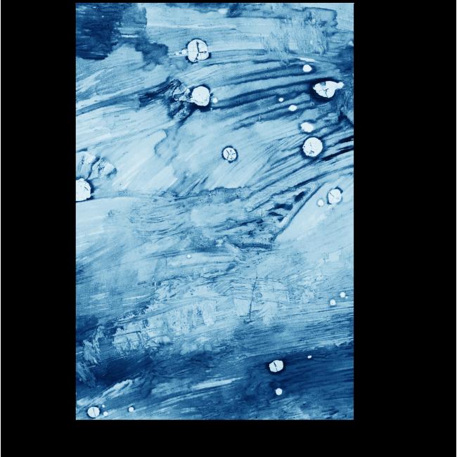 Модульная картина Брызги синей краски