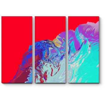 Модульная картина Алый закат на море