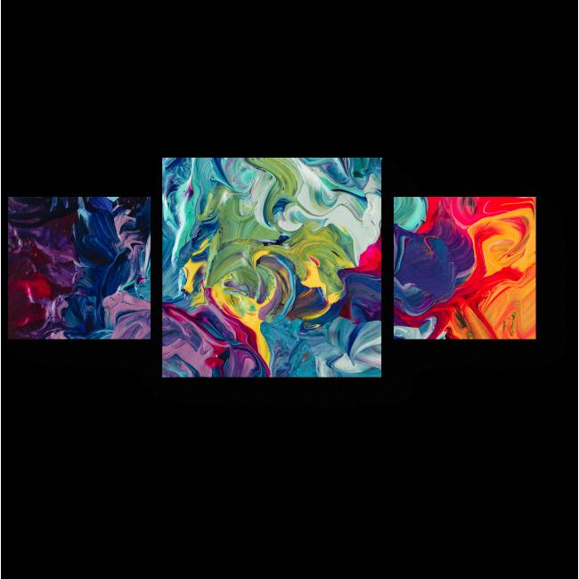 Модульная картина Затейливые переходы цвета