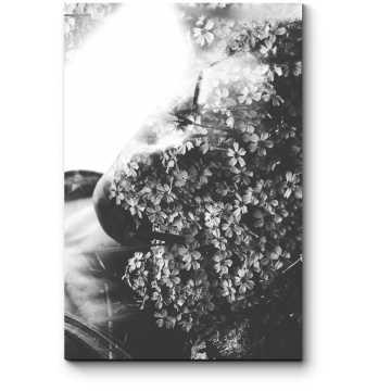 Модульная картина Цветочная леди