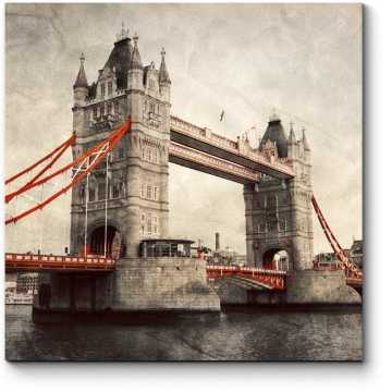 Модульная картина Тауэрский мост в стиле ретро