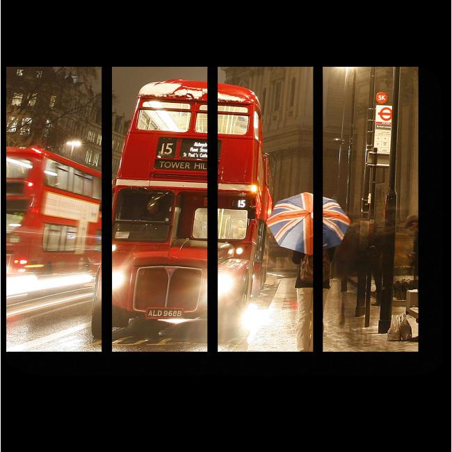 Модульная картина Прогулка по вечернему Лондону