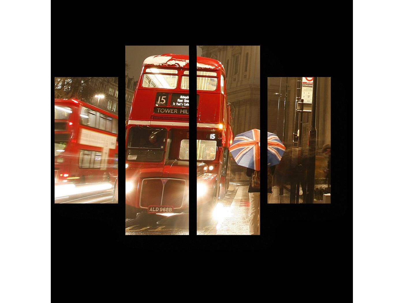 Модульная картина Прогулка по вечернему Лондону (80x60) фото