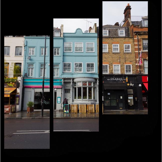 Модульная картина На улочках Инслингтона, Лондон