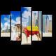 Верблюды на пляже Дубая