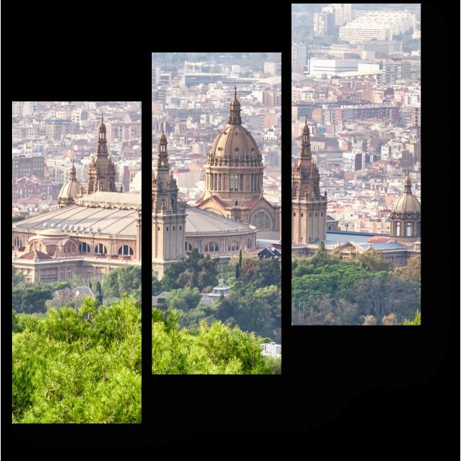 Модульная картина Национальный Дворец на горе Монтжуик, Барселлона
