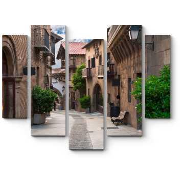 Модульная картина Старинная улочка Барселоны
