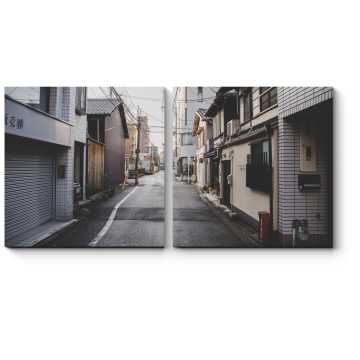 Модульная картина Узкие улочки Киото