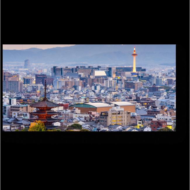 Модульная картина Сумерки спускаются на Киото