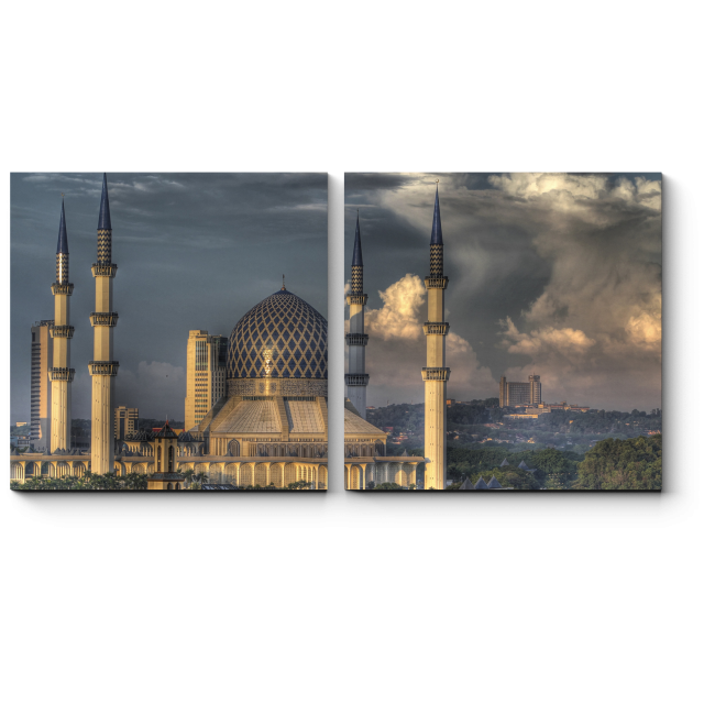 Модульная картина Голубая мечеть, Куала-Лумпур