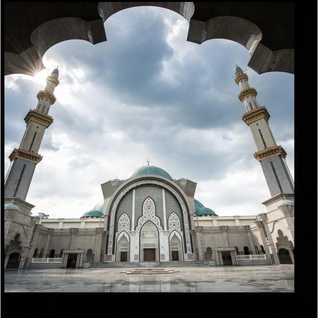 Модульная картина Величественная мечеть, Куала-Лумпур